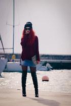 Gianvito Rossi boots - asos hat - Zara bag - Prada sunglasses
