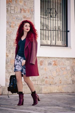 vintage skirt - Mango boots - Zara sweater