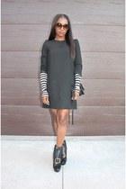 Zara dress - Alexander McQueen shoes - Zara shirt - Marni bag