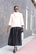balenciaga shoes - Chanel bag - Karen Walker sunglasses - Chicwish skirt