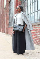 weekday coat - Chanel bag - Oliver Peoples sunglasses - Jcrew sweatshirt