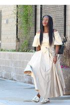Tibi top - Chanel shoes - kara bag - Prada sunglasses - Tibi skirt