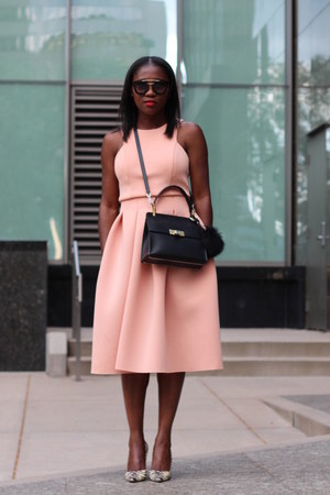 asos dress - balenciaga bag - Prada sunglasses - Manolo Blahnik heels