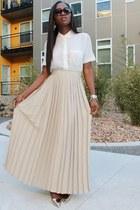 Elie Tahari skirt - see by chloé shoes - madewell shirt - Jcrew earrings