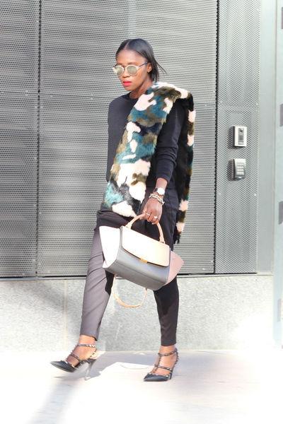 Valentino shoes - Sheinside coat - banana republic sweater - Jcrew scarf