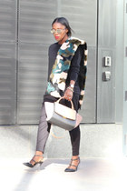 Valentino shoes - Sheinside coat - banana republic sweater - Jcrew scarf