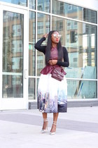 Chicwish skirt - Chanel bag - Oliver Peoples sunglasses - H&M top - Jcrew pumps