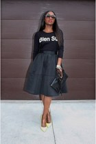 madewell sweater - Givenchy bag - Express skirt - Valentino heels