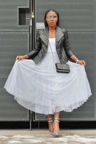 vince jacket - Chanel bag - christian dior sunglasses - Jcrew pumps - Theory top