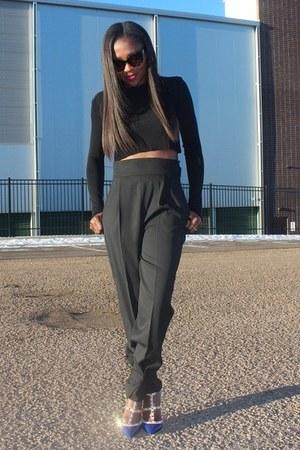Zara pants - Zara top - Valentino heels