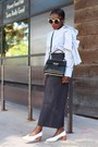 White-block-heeled-shoes-striped-bow-shirt-black-bag
