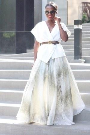 H&M skirt - Gucci belt - asos blouse - Valentino heels