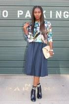 Zara shoes - Missguided sweater - Jcrew socks - Zara skirt