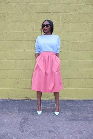 Zara scarf - Givenchy bag - Manolo Blahnik heels - Zara skirt