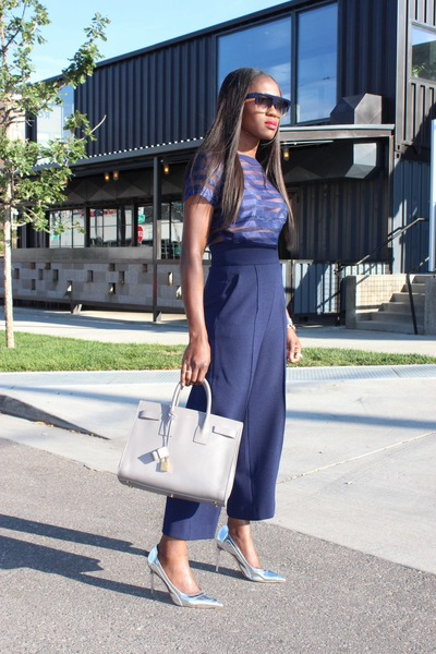 Yves Saint Laurent bag - Zara pants - Manolo Blahnik heels - GIRLS ON FILM top