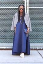 asoscom dress - JCrew jacket - Stella McCartney bag - Karen Walker sunglasses