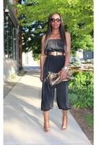 Gucci bag - Salvatore Ferragamo belt - Miguelina jumper - Gucci heels