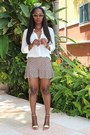 Zara-shorts-nordstrom-blouse-gucci-heels