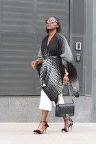 Chicwish cape - Finders Keepers dress - Chanel bag - Tom Ford sunglasses