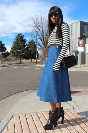 Zara shirt - Alexander McQueen boots - Marni bag - Zara skirt