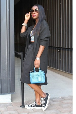 Express skirt - Zara jacket - Reed Krakoff bag - Clover Canyon top