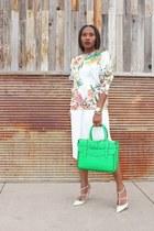 Reed Krakoff bag - Zara skirt - Valentino heels - cameo sweatshirt