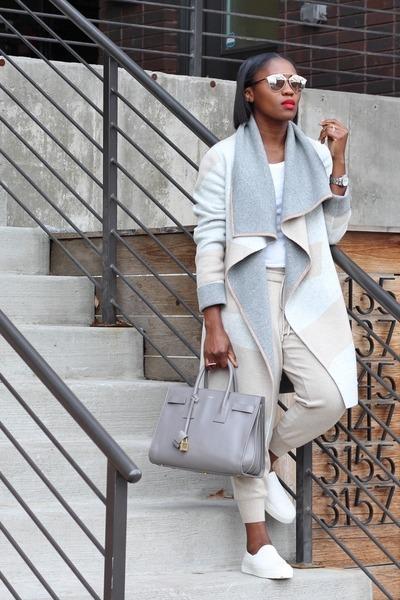 Lafayette 148 New York sweater - YSL bag - Lafayette 14 New York pants