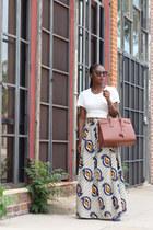 Yves Saint Laurent bag - Prada sunglasses - Anthropologie skirt