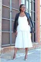 vince jacket - PROENZA SCHOULER bag - Prada sunglasses - Manolo Blahnik heels