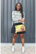 Chloe shoes - Nordstrom sweater - lanvin bag - T by skirt