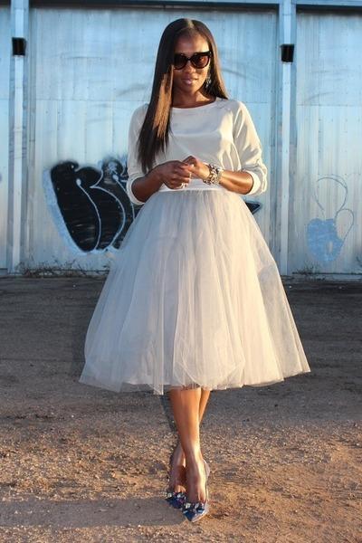 Anthropologie skirt - Reedkrakoff bag - Jcrew heels