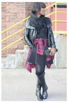 Steve Madden boots - Zara shirt - Burberry bag - Alexander Wang skirt