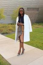 Jcrew shoes - asos coat - Yves Saint Laurent bag - Celine sunglasses