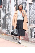 Prada shoes - Camel coat - asos sweater - kara bag - dior sunglasses