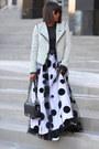 Tweed-jacket-black-bag-black-sunglasses-polka-dot-skirt-black-t-shirt