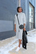 Urban Outfitters dress - Veda jacket - Alexander Wang bag - Converse sneakers