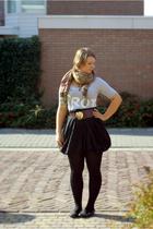 warehouse skirt - H&M shirt - H&M tights - Graceland shoes - vintage belt - turk