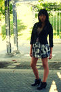 Black-h-m-blazer-white-forever-21-skirt-black-aldo-boots-purple-ice-bouti