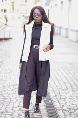 Bershka blazer - Vero Moda coat - Monki jeans