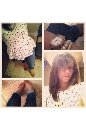 H&M shirt - glasses - H&M heels