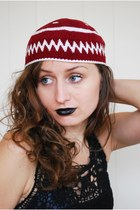Crimson-knittedacrylic-unknown-brand-hat