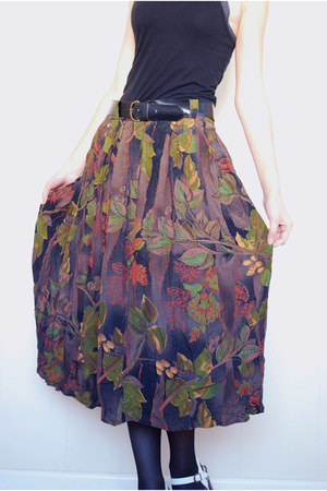 brown St Michael skirt