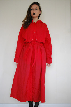 red Dannimac coat