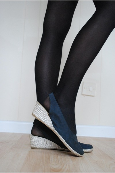 navy Jane DArcy wedges