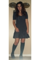 forever 21 dress - HUE socks - Madden Girl shoes