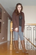 Spring & Mercer sweater - necklace - shirt - jeans - Ruff Hewn boots