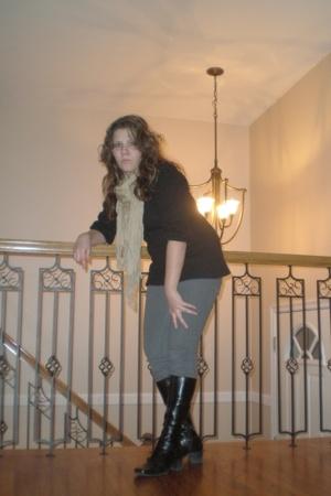 Kenar sweater - pants - scarf - liz claiborne boots