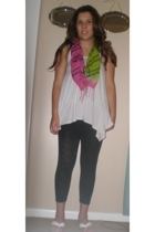 scarf - Target top - leggings - shoes