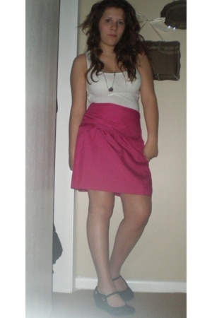 kohls top - Ann Taylor Loft skirt - accessories - doll house shoes