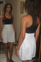 black c&a top - beige Made by my dressmaker skirt - black Beira Rio shoes - purp